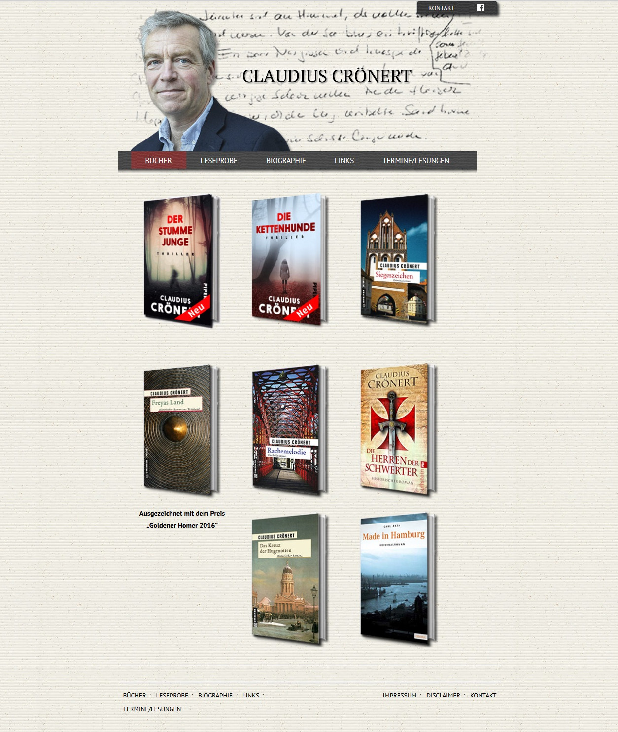 Claudius-Croenert Website Homepage