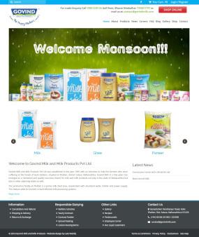 GovindMilk.com Website Homepage