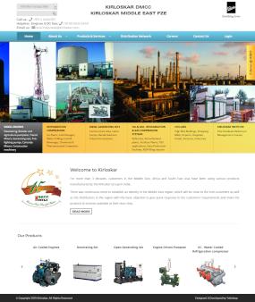 KirloskarIB.com Website Homepage.