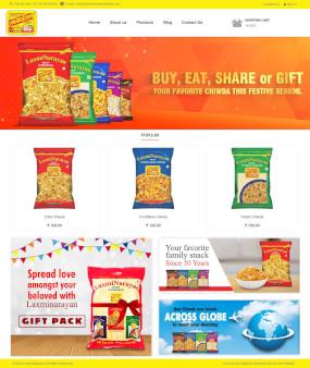LaxmiNarayan Chiwda Ecommerce Website Homepage
