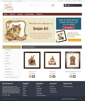 SrujanArt.com Ecommerce Website Homepage