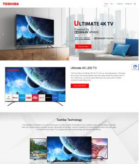 Toshibatv-in.com Website Homepage