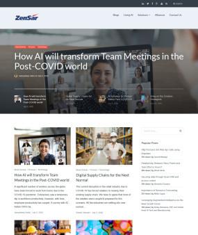 zensar.com/blogs/ Website Homepage